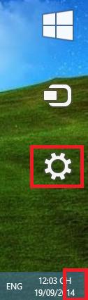 Cách mở Control Panel trên windows 8, windows 8.1