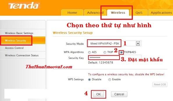 Cách đổi mật khẩu Wifi Tenda w316r w311r w303r w268r w302r
