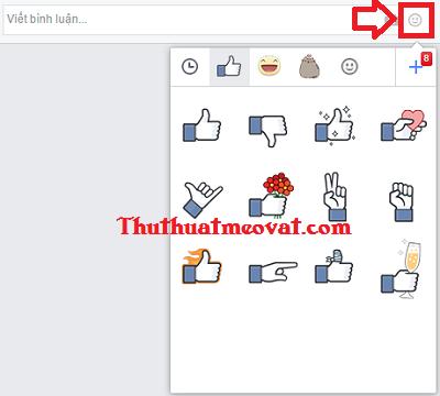Facebook cho phép bình luận bằng Sticker ( nhãn dán)