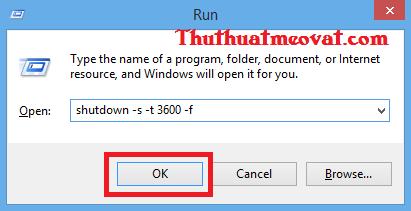 Hẹn giờ tự động tắt máy tính