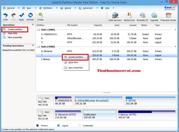 Hướng dẫn cách chia ổ đĩa với phần mềm EASEUS Partition Master