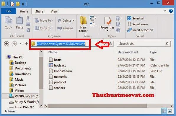 Hướng dẫn cách chỉnh sửa file hosts