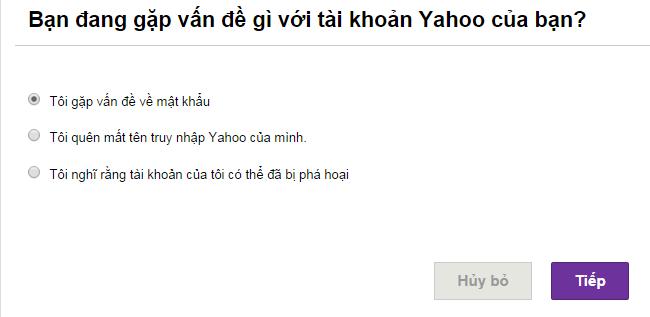 Cách lấy lại mật khẩu Yahoo bằng Email, số điện thoại