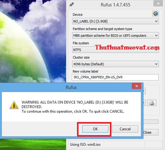 Hướng dẫn cách tạo USB boot cài đặt Windows 7 và Windows 8