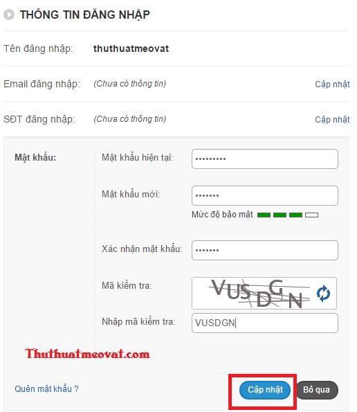 Cách thay đổi mật khẩu tài khoản Zing, Zing me nhanh nhất
