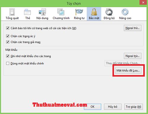 Xem và xóa mật khẩu đã lưu trên Firefox