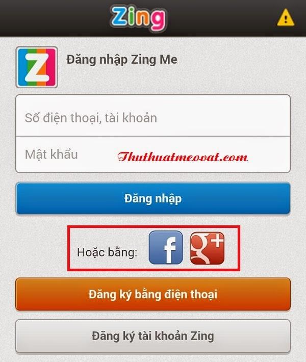 Hướng dẫn đăng ký, tạo tài khoản Zing me trên điện thoại