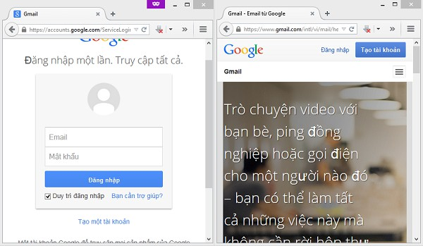 Đăng nhập nhiều tài khoản Gmail trên cùng máy tính