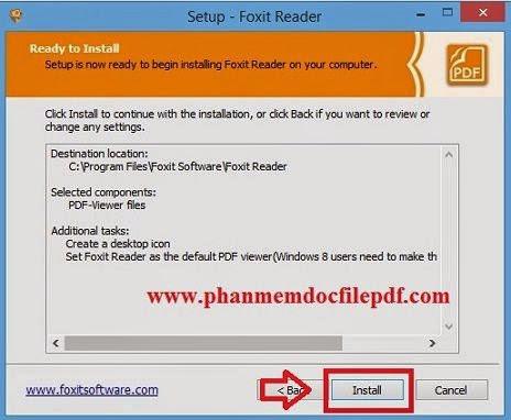 Hướng dẫn cài phần mềm Foxit Reader