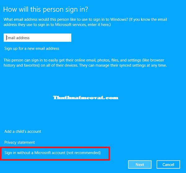 Hướng dẫn tạo, xóa tài khoản người dùng ( user) trên Windows 8