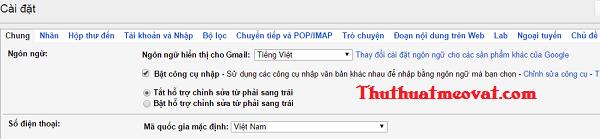 Làm quen với giao diện Gmail cho người mới